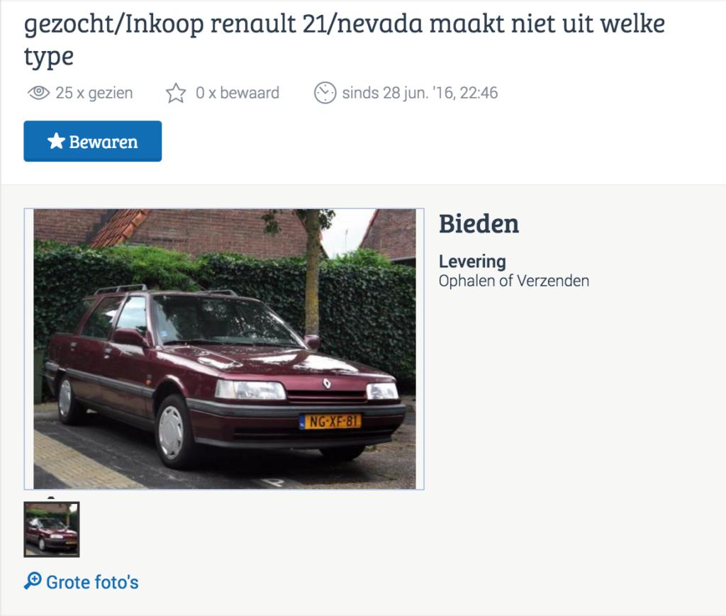 Renault 21 Vakantieauto