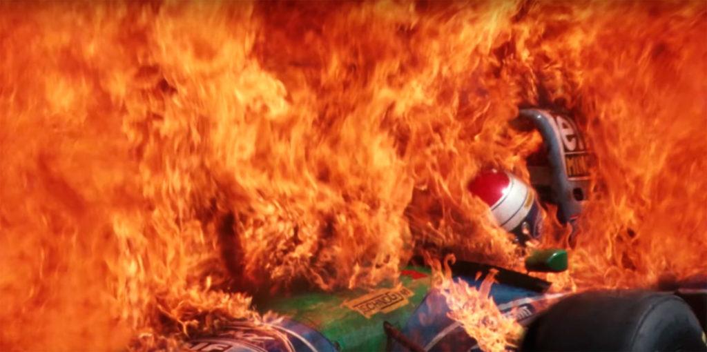 Verstappen overleefde de vuurzee ternauwernood in de GP van Duitsland.