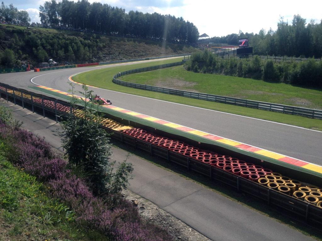 Ferrari F1 Pouhon toeschouwer gp belgië vettel