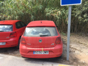 VW Polo Haven Auto's laden lossen haven parkeren