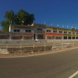 De Targa Florio racebaan bezoeken op eiland Sicilië.